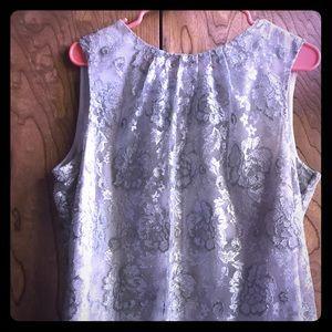 Party season - Shiny silver sleeveless top